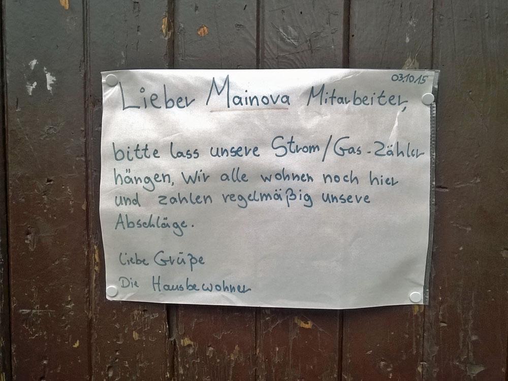 Frankfurt-Nordend: Protest der Mieter in der Keplerstraße 14