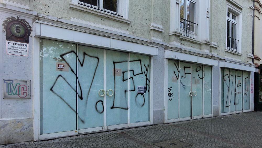 Graffiti in Frankfurt von Y.F.