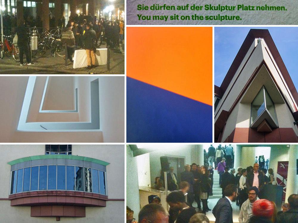 Foto-Collage zum Museum für Moderne Kunst in Frankfurt am Main