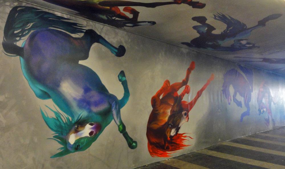Street Art mit Pferdemotiven von Andreas von Chrzanowski alias Case Ma'Claim