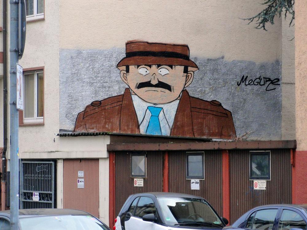 Streetart in Frankfurt - MEGURE