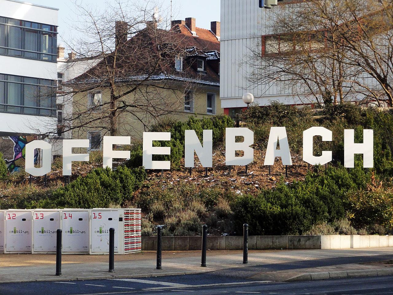 Offenbach Hills Schriftzug im Stile von Hollywood in Offenbach