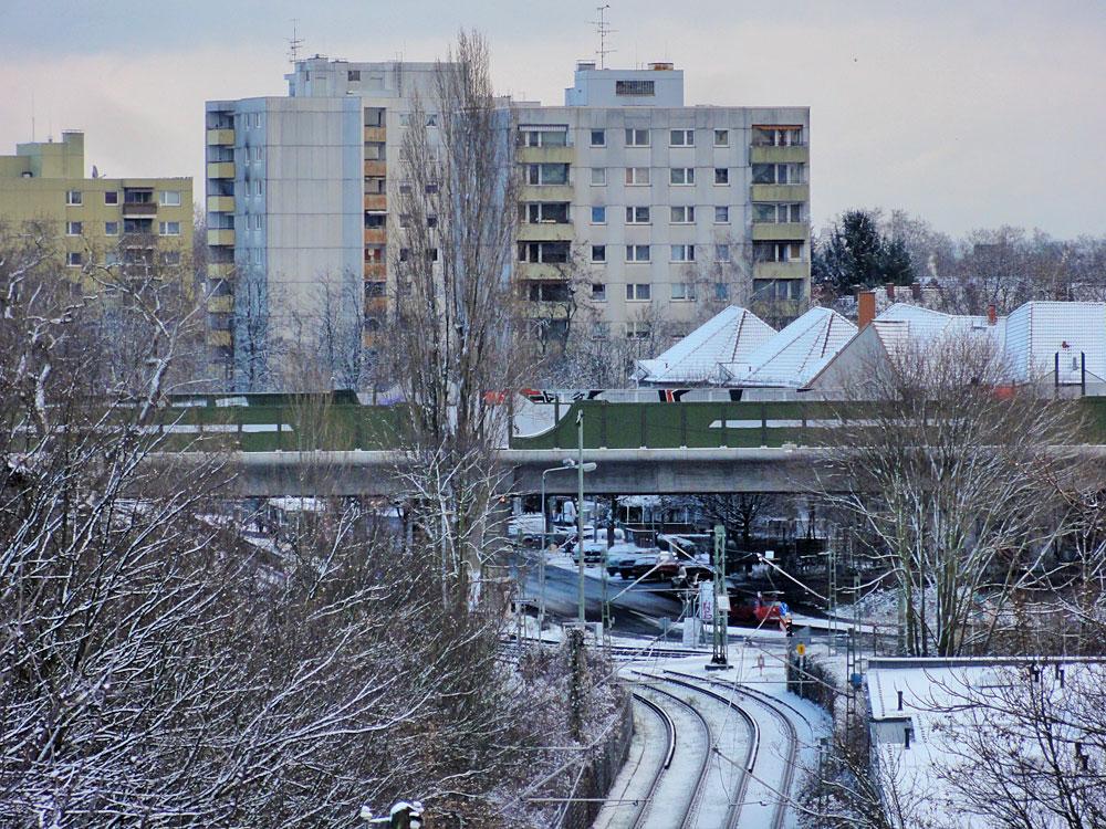 Schnee in Frankfurt 2016 - Riederwald