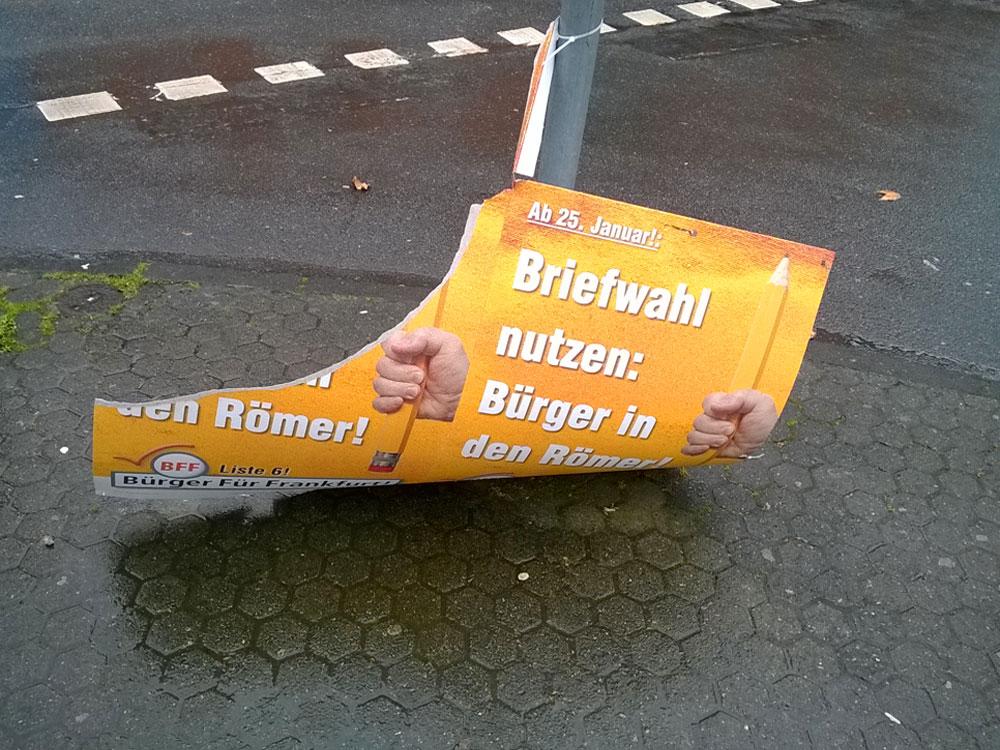 bff-buerger-fuer-frankfurt-wahl-plakat-abgerissen-berger-strasse-8