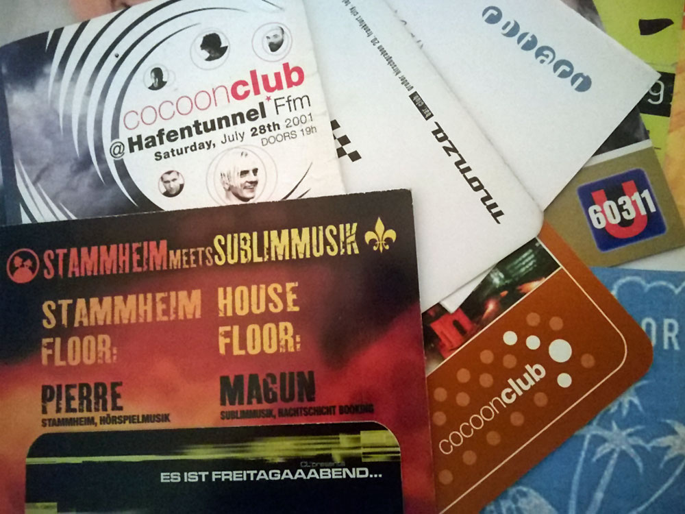 Flyer von Techno-Partys