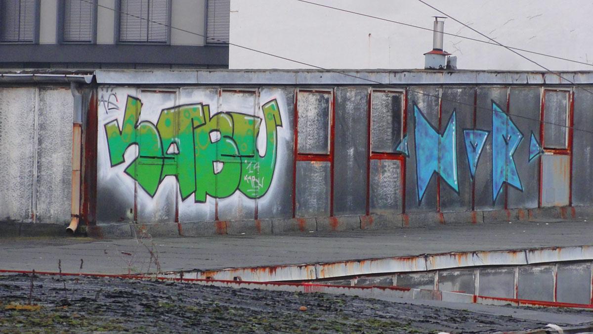 Urbex Frankfurt: Graffiti von KABU in den Teves Werken