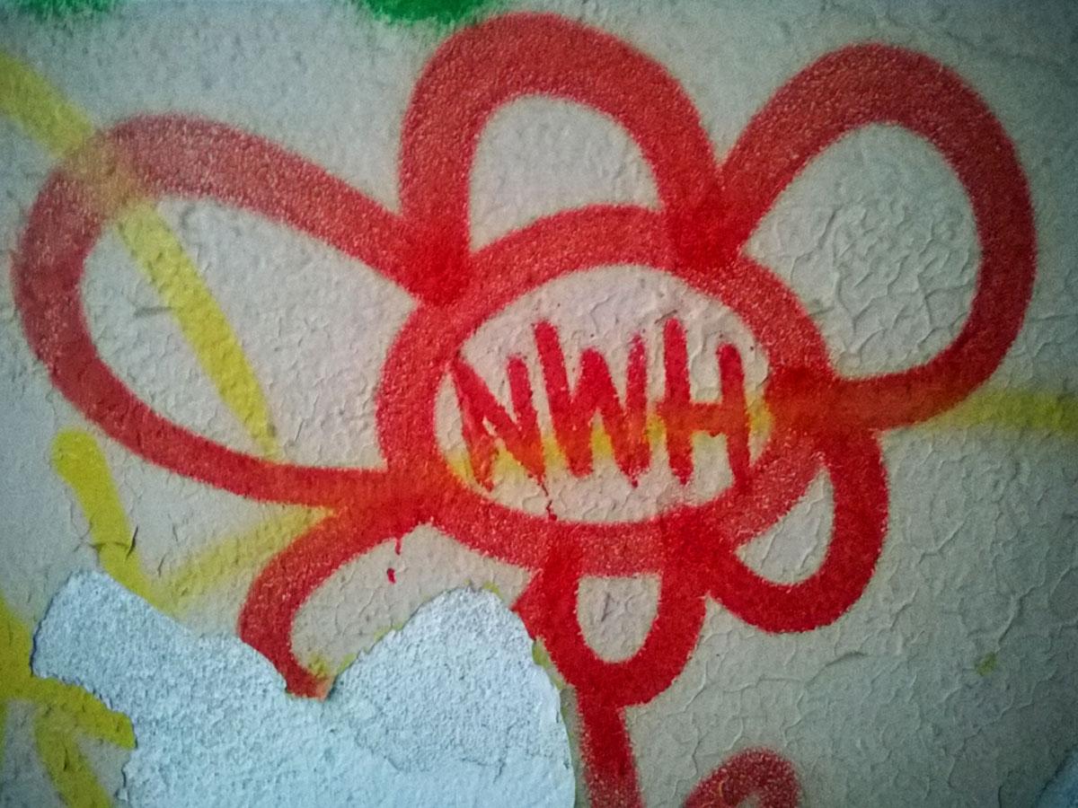Urbex Frankfurt: Graffiti von NWH in den Teves Werken