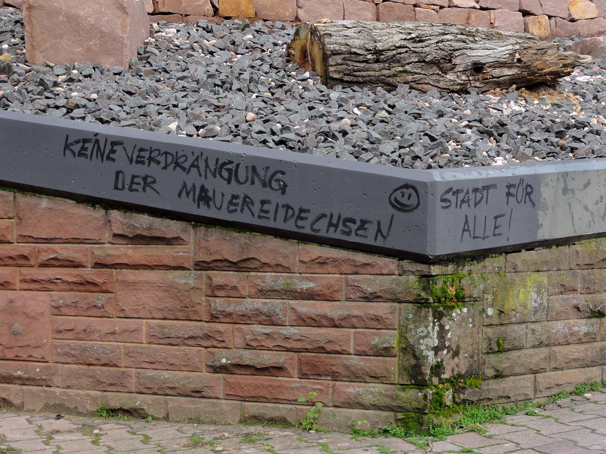 Stadt fuer alle - Keine Verdraengung der Mauereidechsen