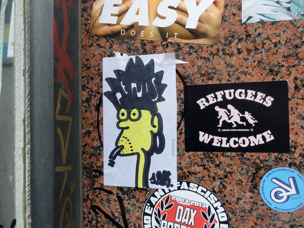 Streetart in Frankfurt von Treppe.1OG