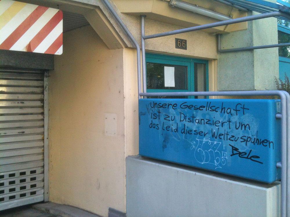 STREETART IN FRANKFURT AM MAIN VON BELE