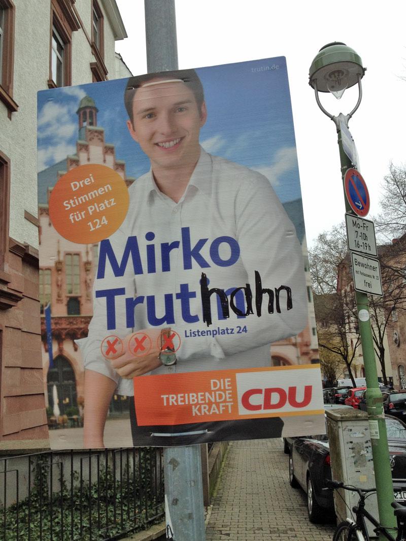 Kommunalwahl 2016 in Frankfurt: Aus Mirko Trutin wird Mirko Truthahn