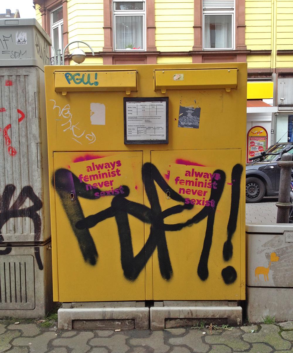Queer*feministische Aktionen in Frankfurt