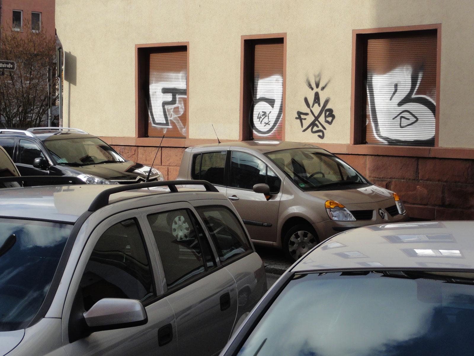 Shutter- Art- Graffiti in Frankfurt von FAB