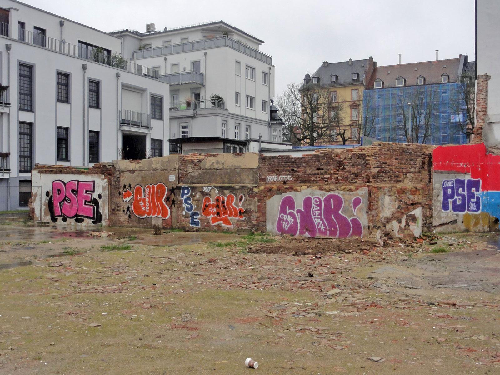 Backyard- Graffit in Frankfurt- Sachsenhasuen von PSE und CDIR
