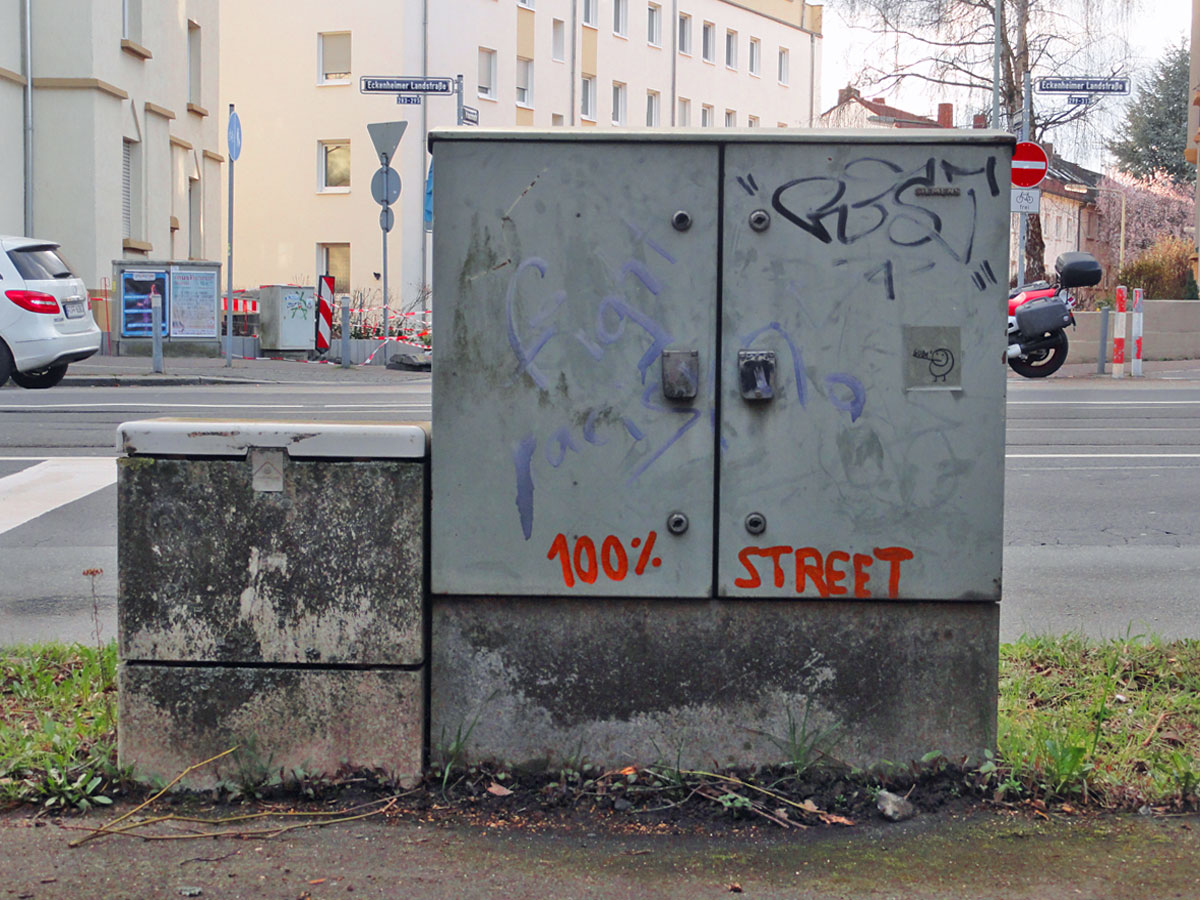 Streetart & Graffiti in Frankfurt am Main - 100% STREET
