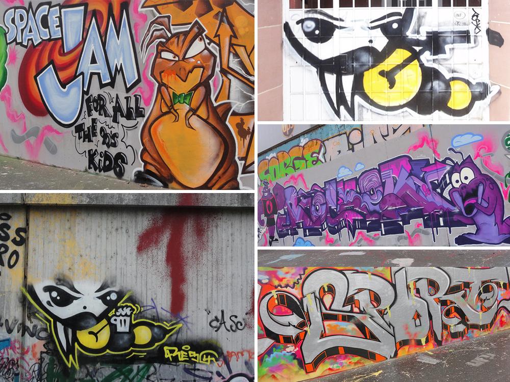 artikelbild fuer graffiti videos aus frankfuzrt am main