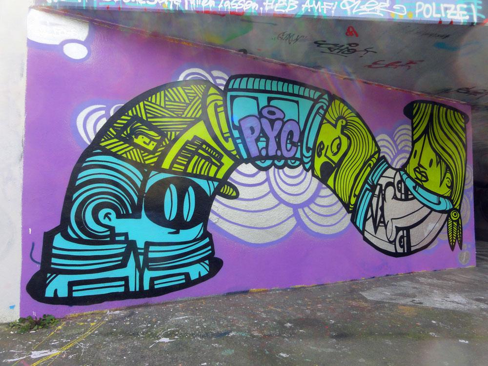 Graffiti von PYC in Frankfurt am Main