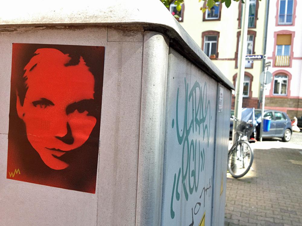 Streetart- Stencil zu Kim Wexler aus der Serie Better Call Saul