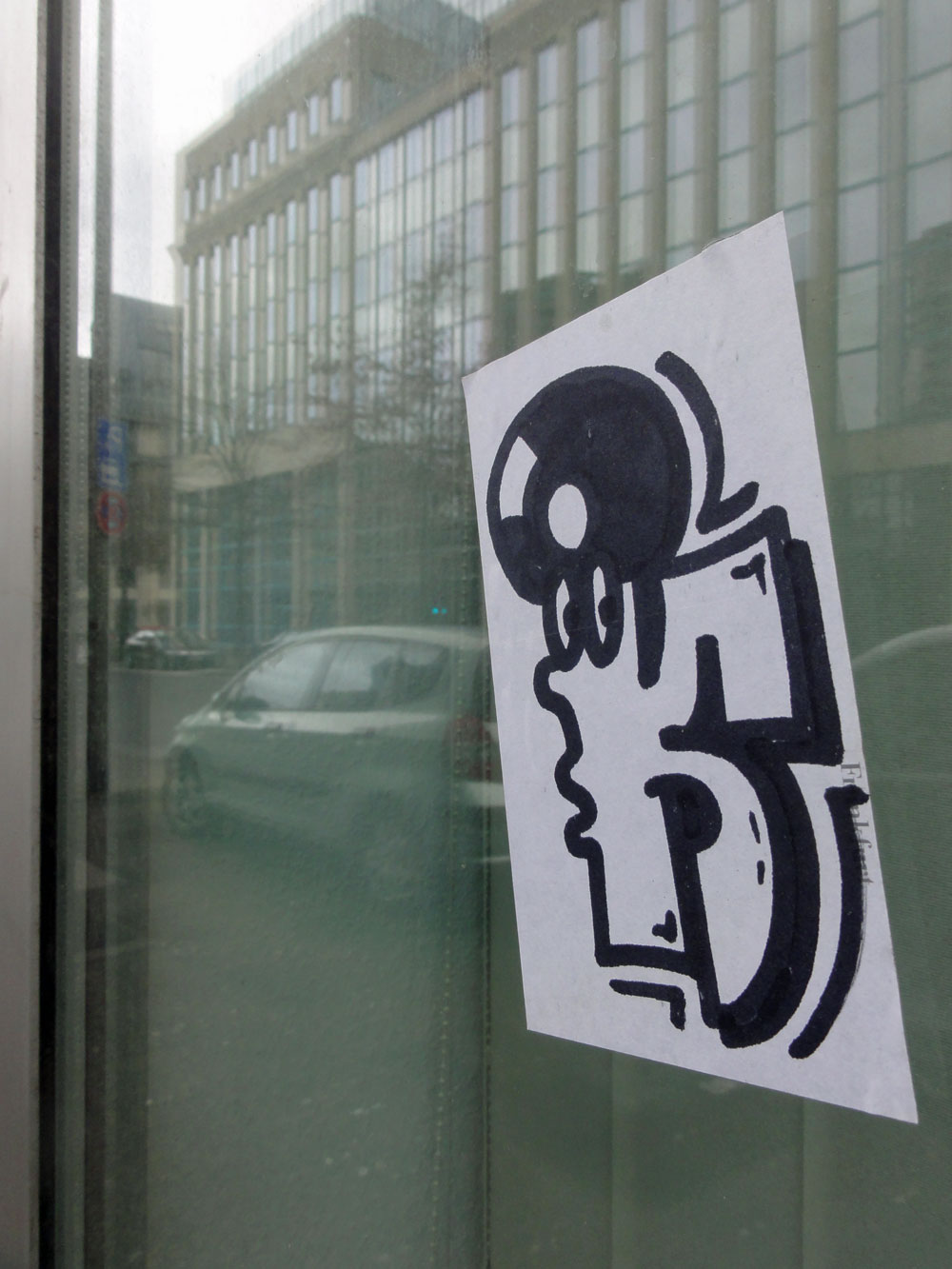 Streetart in Frankfurt: Stickers
