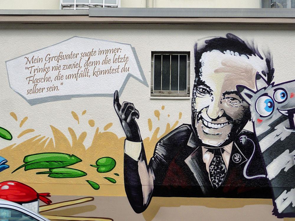 Heinz Schenk - Graffiti an der Kleinmarkthalle in Frankfurt am Main