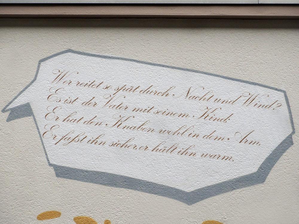Sprechblase - Graffiti an der Kleinmarkthalle in Frankfurt am Main