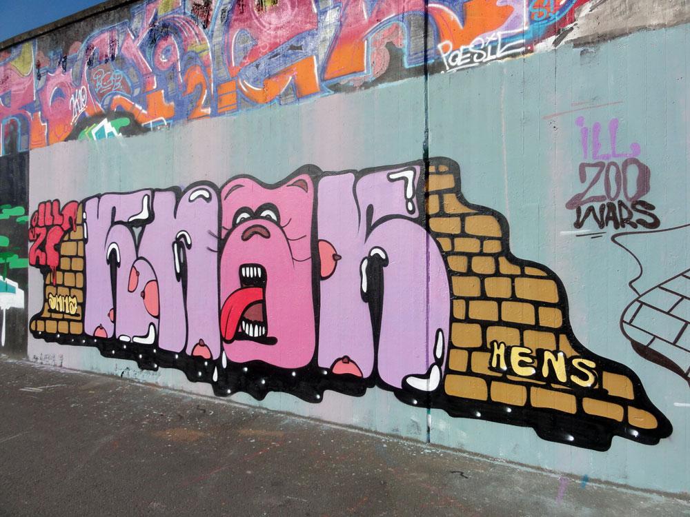 GRAFFITI IN FRANKFURT – HALL OF FAME RATSWEGKREISEL – MAI 2016