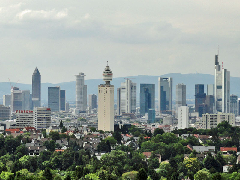 Frankfurt am Main, Ausblick vom Goetheturm (2010)
