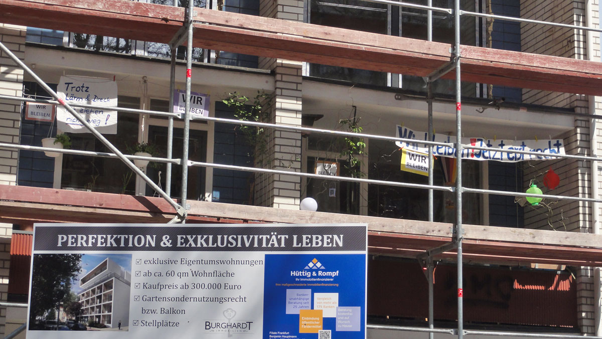 Exklusives Leben vs. Mietervertreibung in Frankfurt
