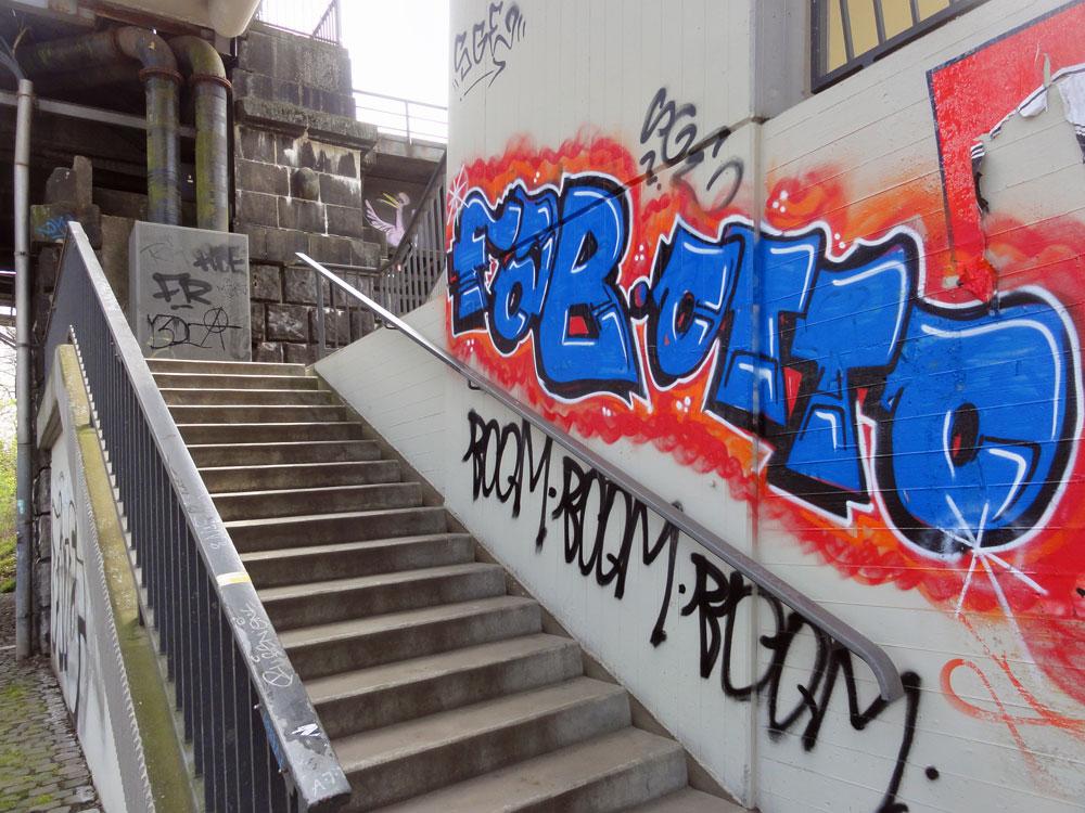 Graffiti in Frankfurt Sachsenhausen von FAB und OTTO