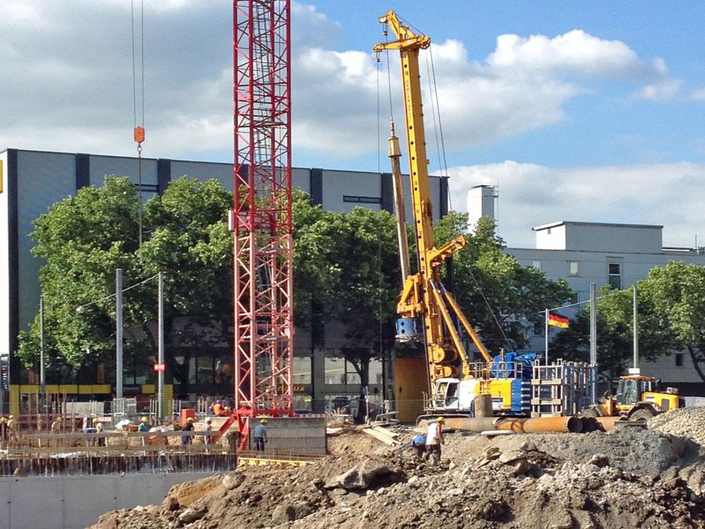 Deutschlandfahne zur EURO 2106 in Frankfurt