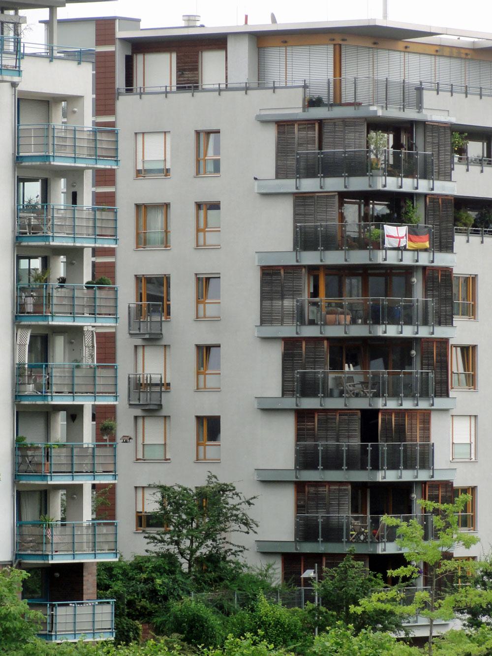 Englandfahne zur EURO 2106 in Frankfurt