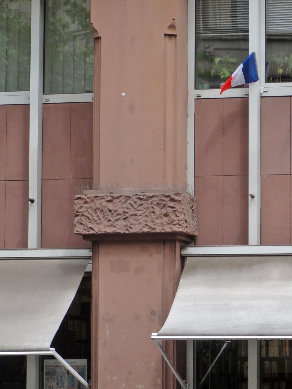 Frankreichfahne zur EURO 2106 in Frankfurt