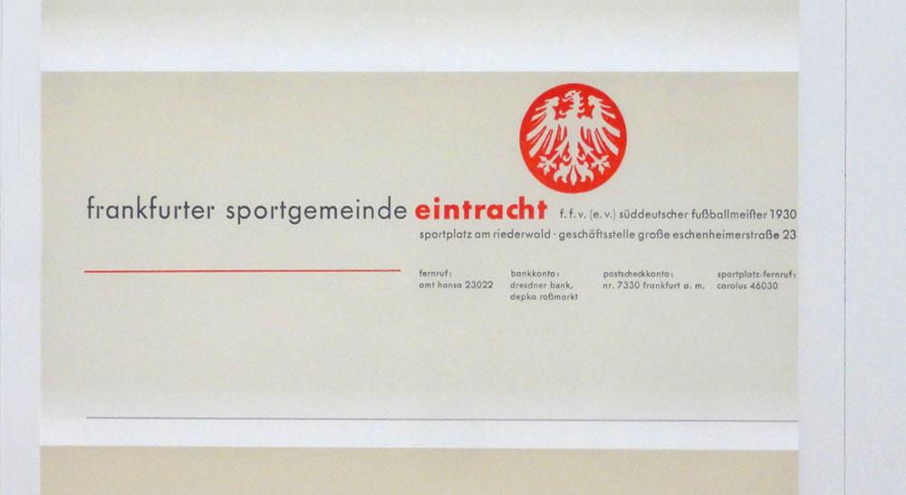 Frankfurter Sportgemeinde Eintracht - 100 Jahre Neue Typografie und Neue Grafik in Frankfurt - Ausstellung im Museum Angewandte Kunst Frankfurt