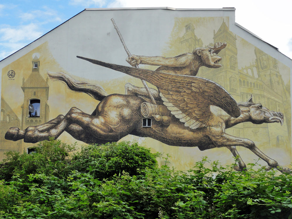 Wild Drawing- Mural beim Meeting Of Styles 2016 in Wiesbaden