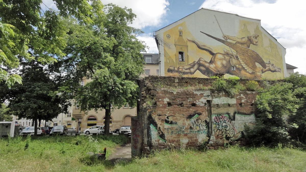 Wild Drawing- Mural beim Meeting Of Styles 2016 in Wiesbaden