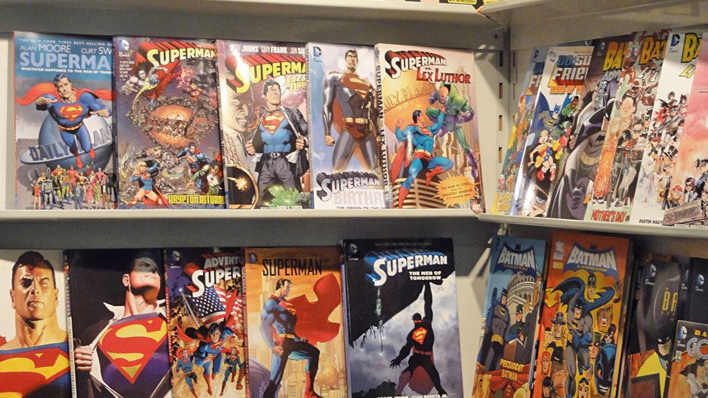 BATMAN-Comics und SUPERMAN-Comics