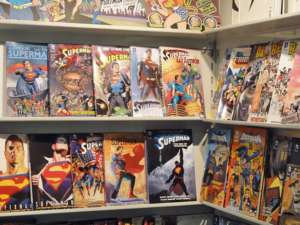 BATMAN-Comics und SUPERMAN-Comics