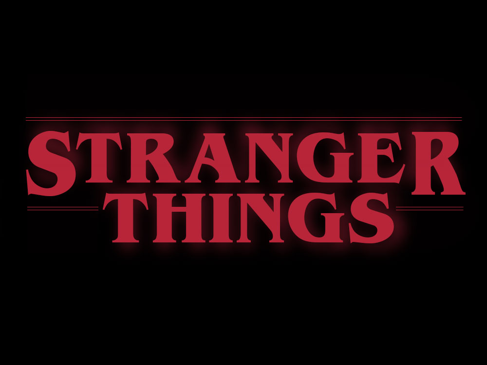 Stranger Things Red Font Logo