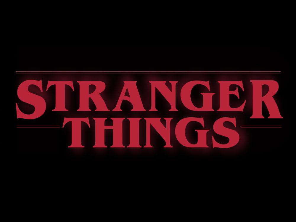 Stranger Things Red Font Logo