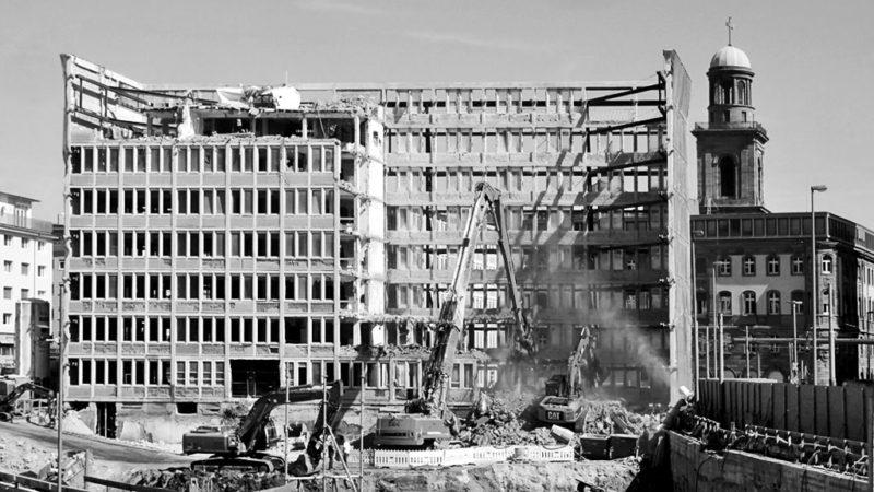 Baustelle ehemaliger Bundesrechnungsrof / Kornmarkt Arkaden in Frankfurt am Main