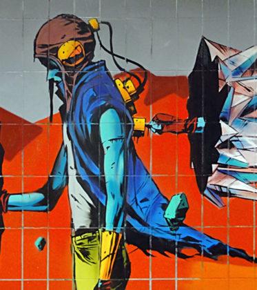 Case Ma'Claim und Deih.Xlf Graffiti an der Galluswarte in Frankfurt