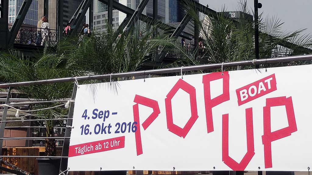 Pop Up Boat des Jüdischen Museums in Frankfurt