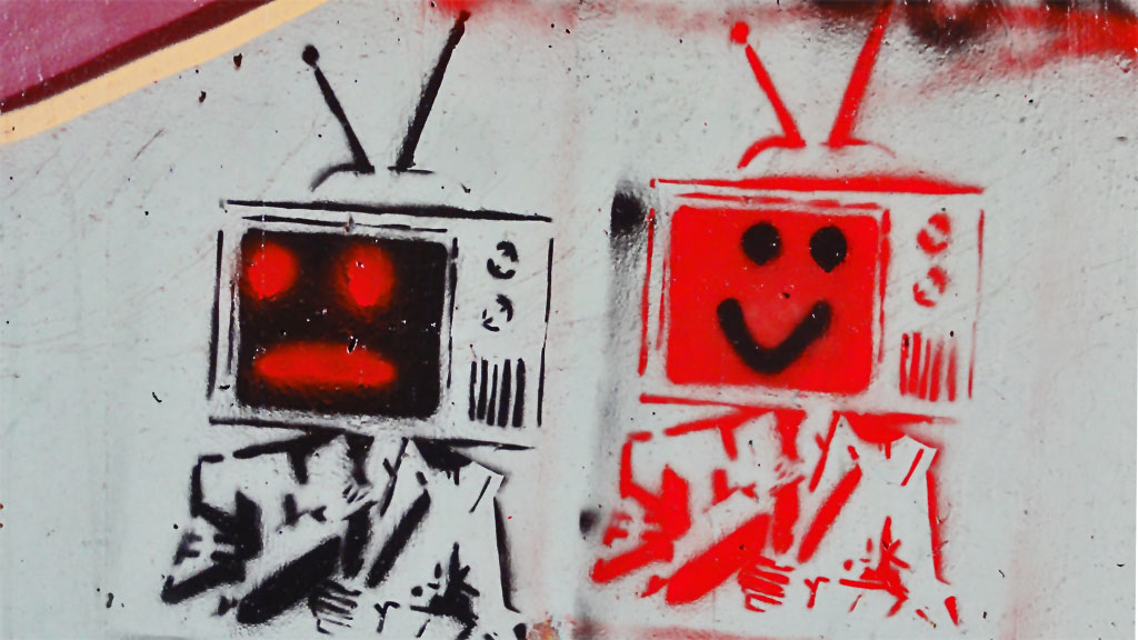 Streetart Stencil Televisons