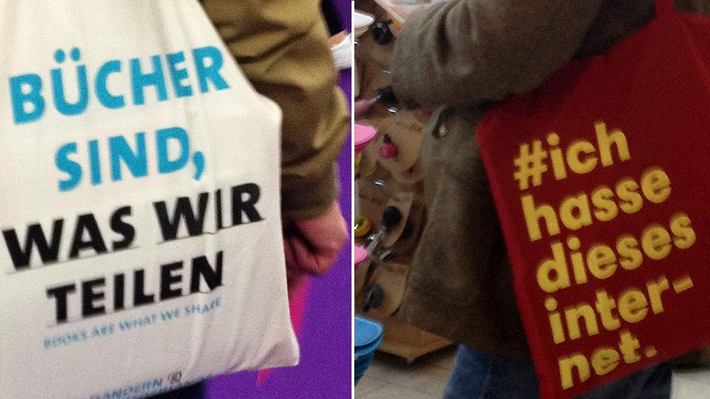 Jutebeutel auf der Frankfurter Buchmesse 2016