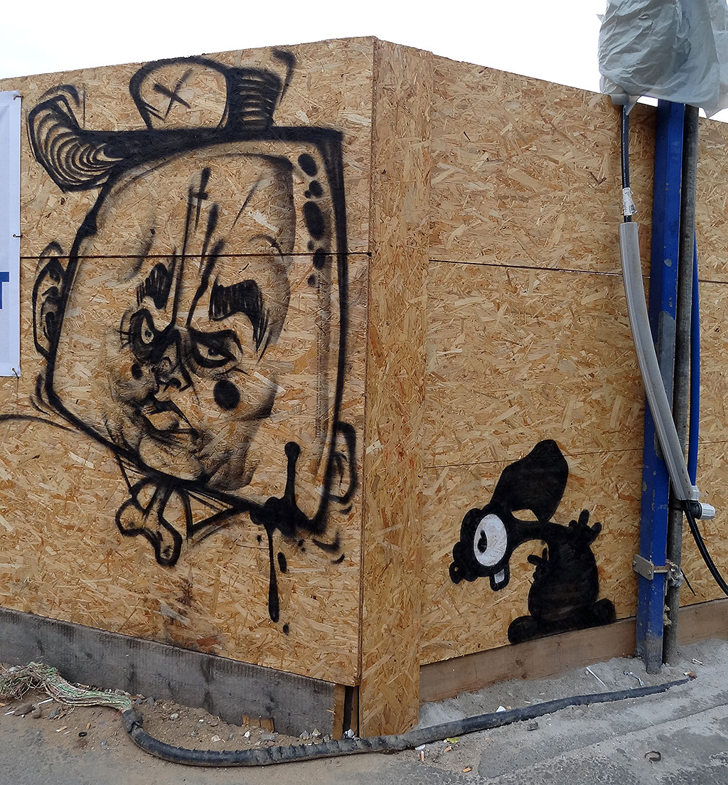 Under Art Construction 2.0 - Graffiti-Projekt am Fernbus-Bahnhof in Frankfurt am Main