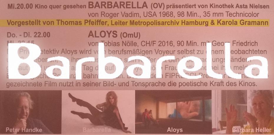 Barbarella im Mal Seh'n Kino in Frankfurt