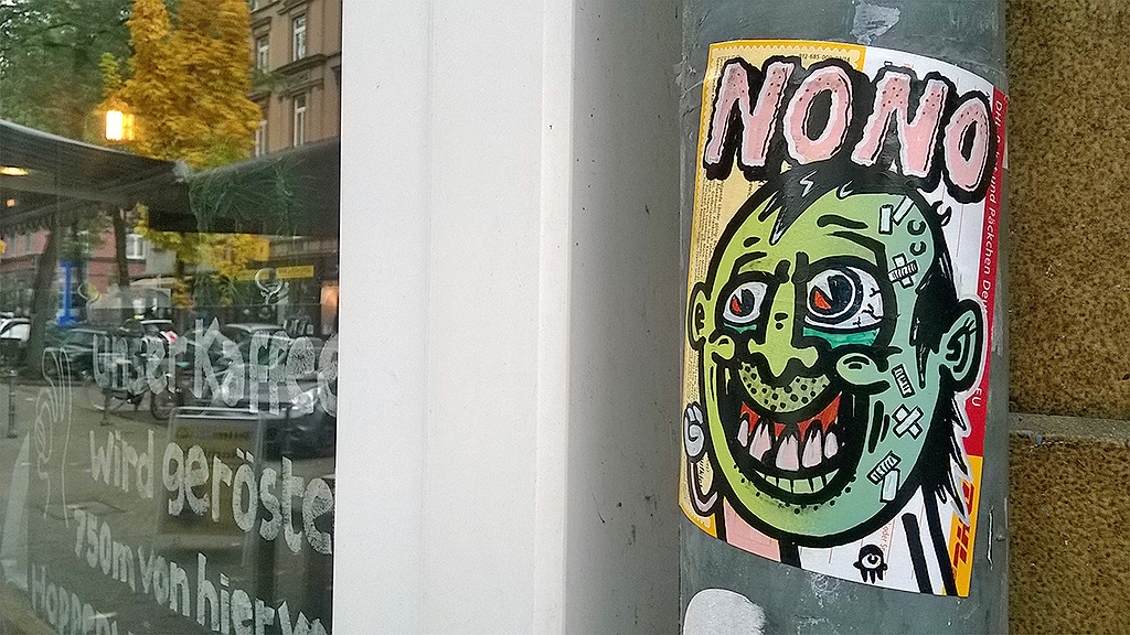 Streetart Frankfurt: Creature Ink.