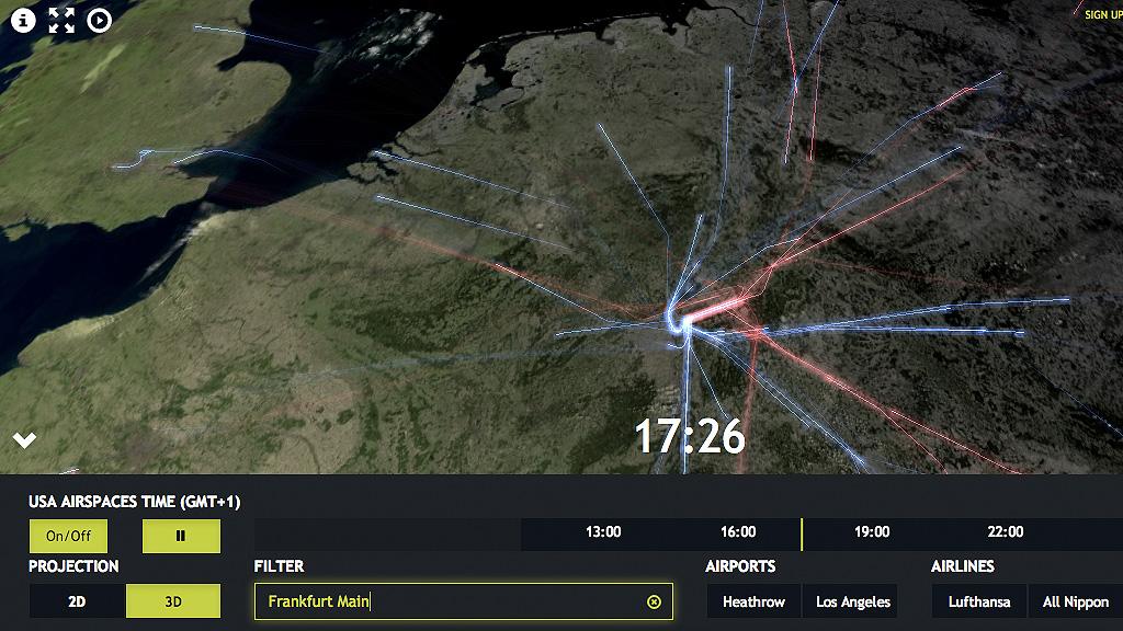 Luciad 3D Visualization Flughafen Frankfurt