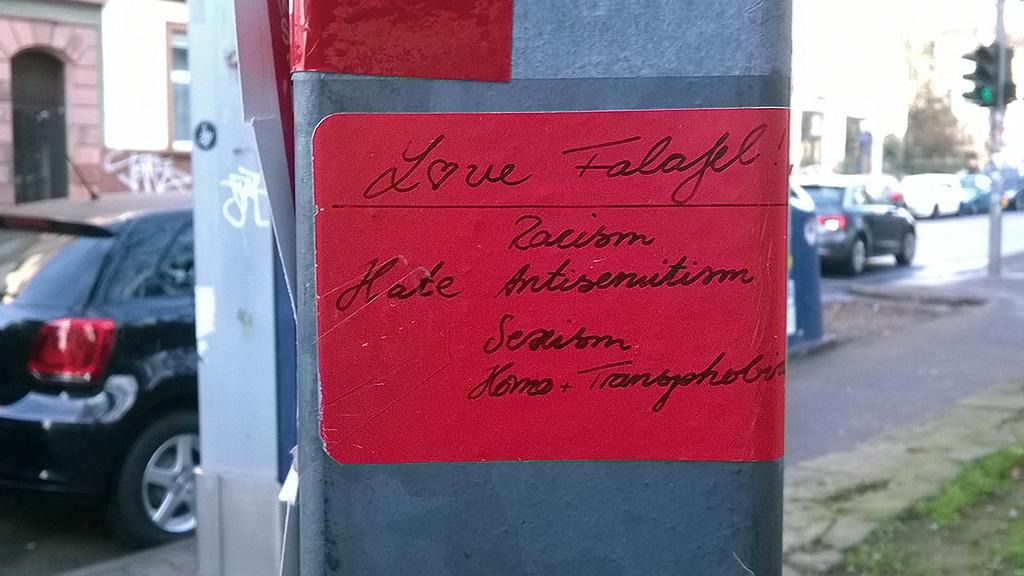 Love Falafel Hate Racsim