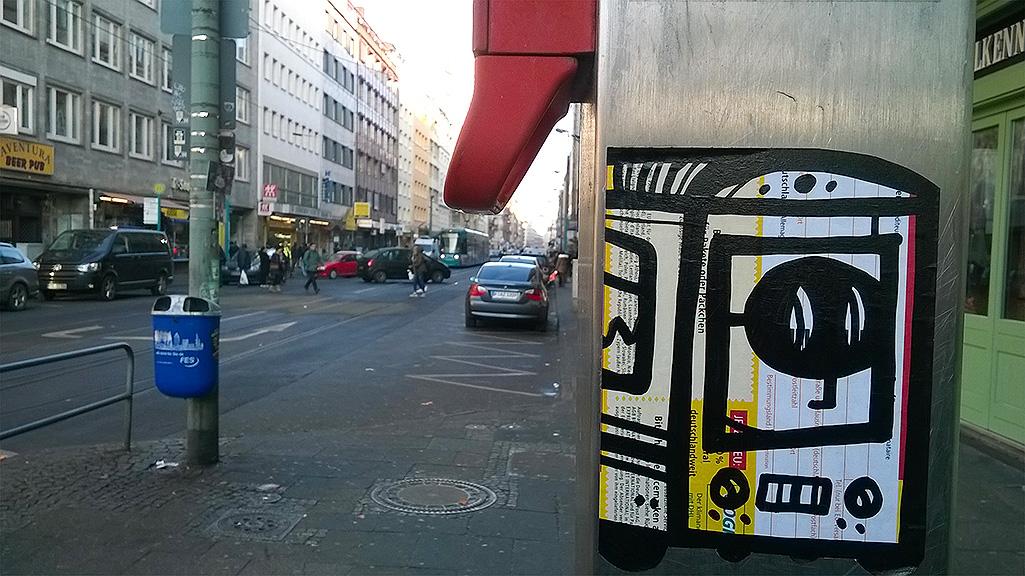 Aufkleber in Frankfurt: P.Y.C.
